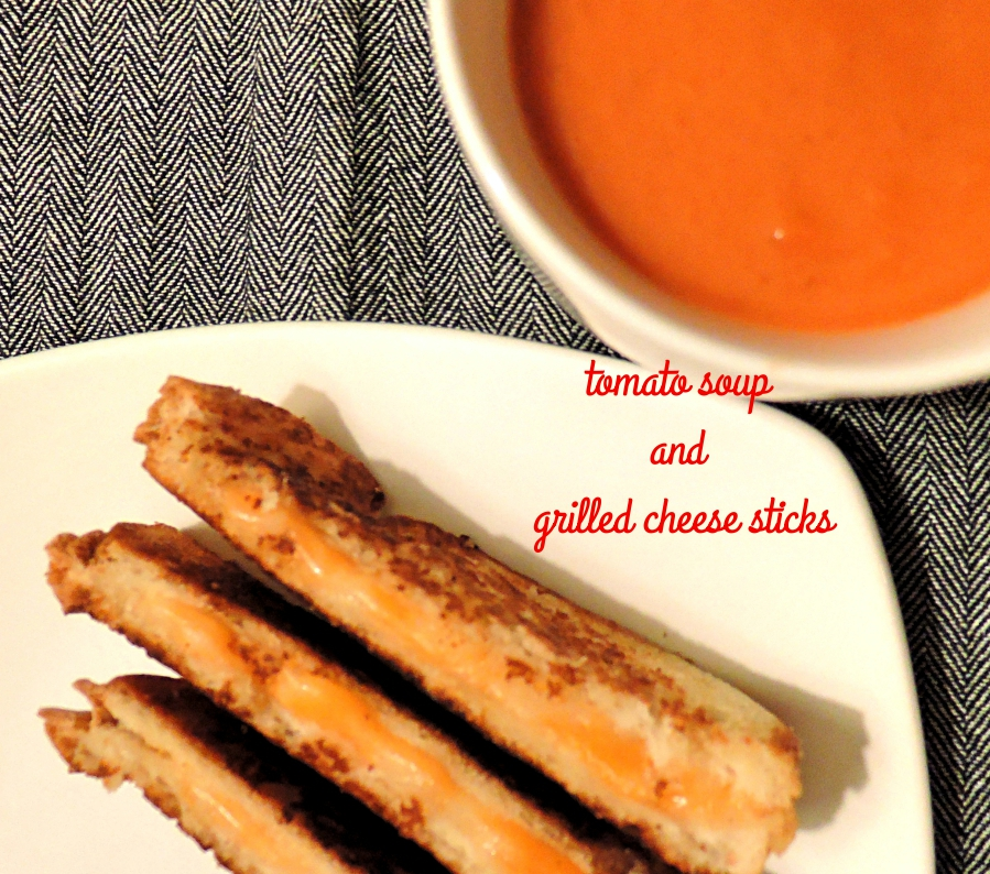 Tomato Soup and Grilled Cheese Sticks