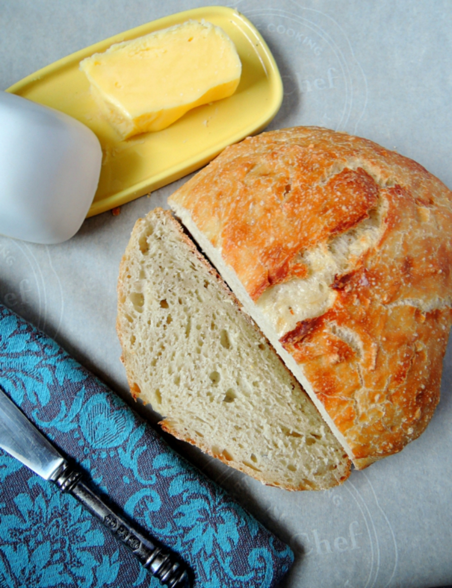 Beginner's No-Knead Peasant Bread