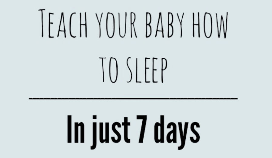 Teach Your Baby How to Sleep {in 7 days!}