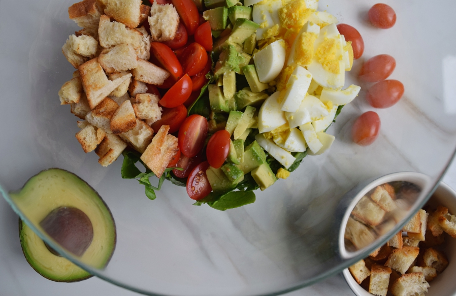 Veggie Cobb Salad with Homemade Blue Cheese Dressing