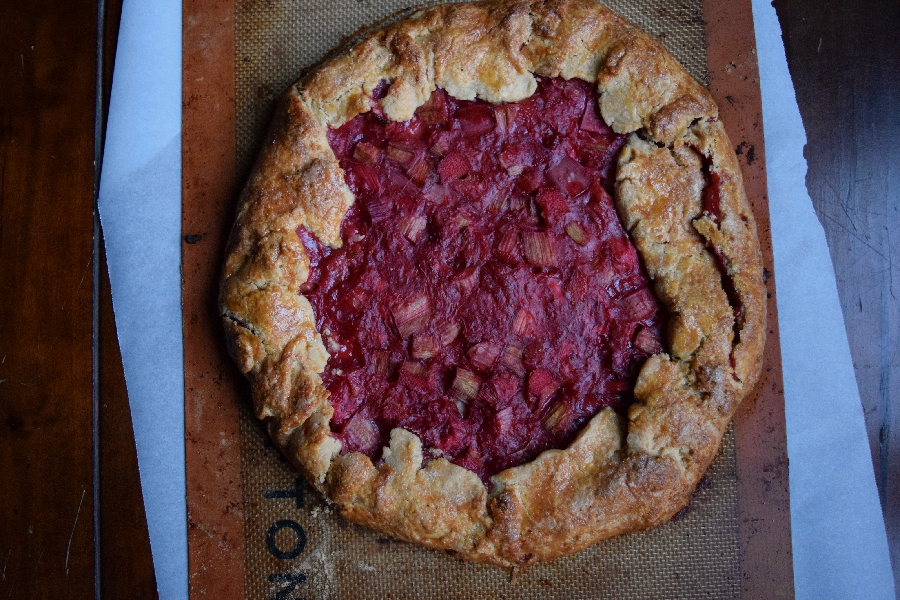End of Summer Crostata {Rhubarb & Strawberries}