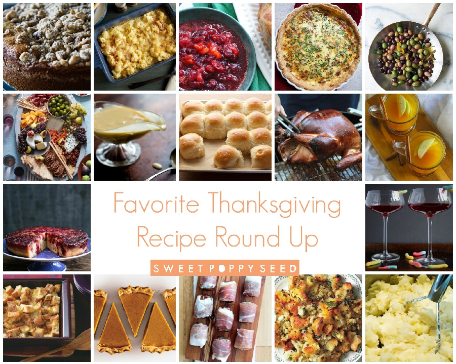 Favorite Thanksgiving Recipe Round Up