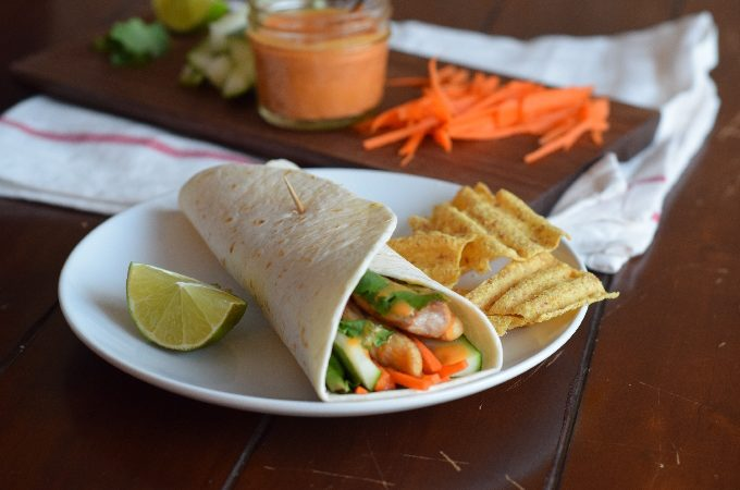 Thai Chicken Peanut Wraps