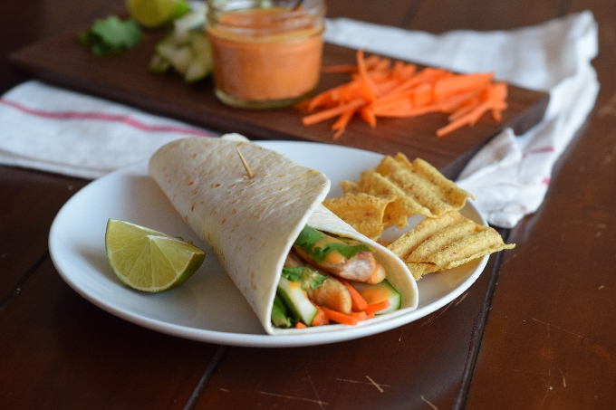 Thai Chicken Peanut Wraps - Sweet Poppy Seed