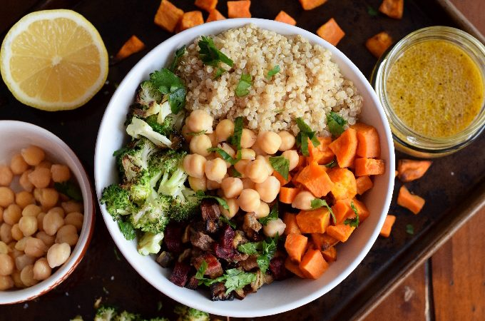 Winter Buddha Bowl with Mustard Vinaigrette