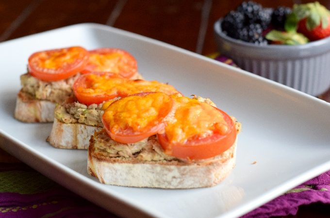 Healthy Avocado Tuna Melts