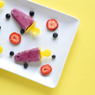 berry coconut popsicle