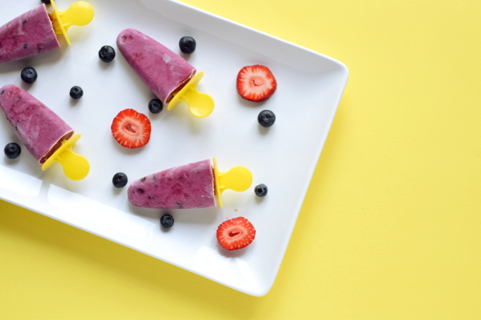 Berry Coconut Popsicles