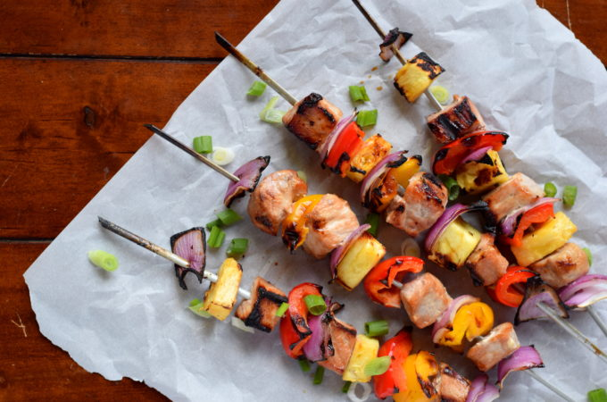 Hawaiian Pork Skewers
