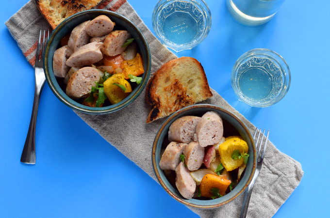 Sausage and Za'atar Vegetable Sheet Pan Dinner