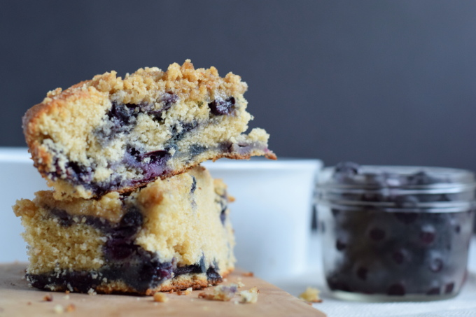 Wholesome Blueberry Coffee Cake