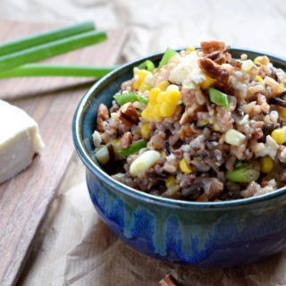 wild rice salad with corn and queso fresco #vegetarian #glutenfree